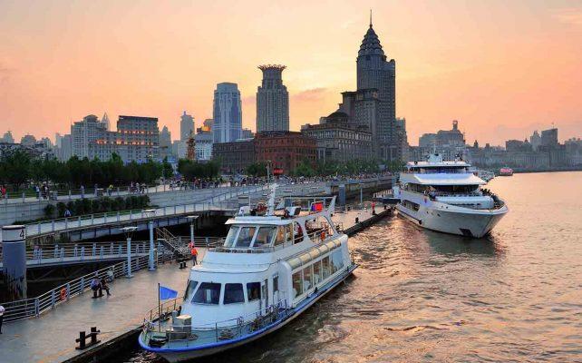 Du lịch Thượng Hải du thuyền trên sông Hoàng Phố