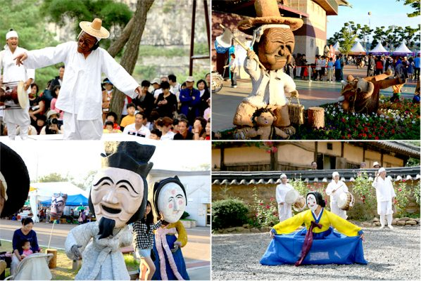 andong-mask-festival-Hàn-Quốc-mùa-thu