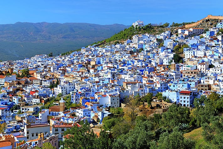 du-lịch-morocco-View-of-Chefchaouen-in-Marocco