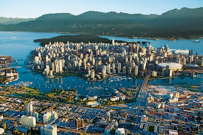 visa-cong-tac-canada-Aerial-view-of-vancouver-british-columbia-canada-conde-nast-traveller-21feb17-tourism-canada