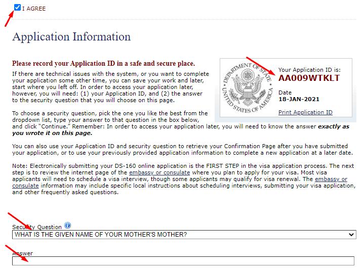Bắt đầu đăng ký visa Mỹ online - Điền mẫu đơn ds160 - VISANA