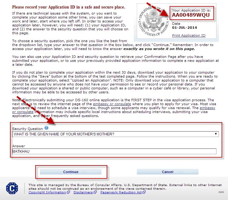 Hướng dẫn điền tờ đơn xin visa Mỹ DS 160 bước 2