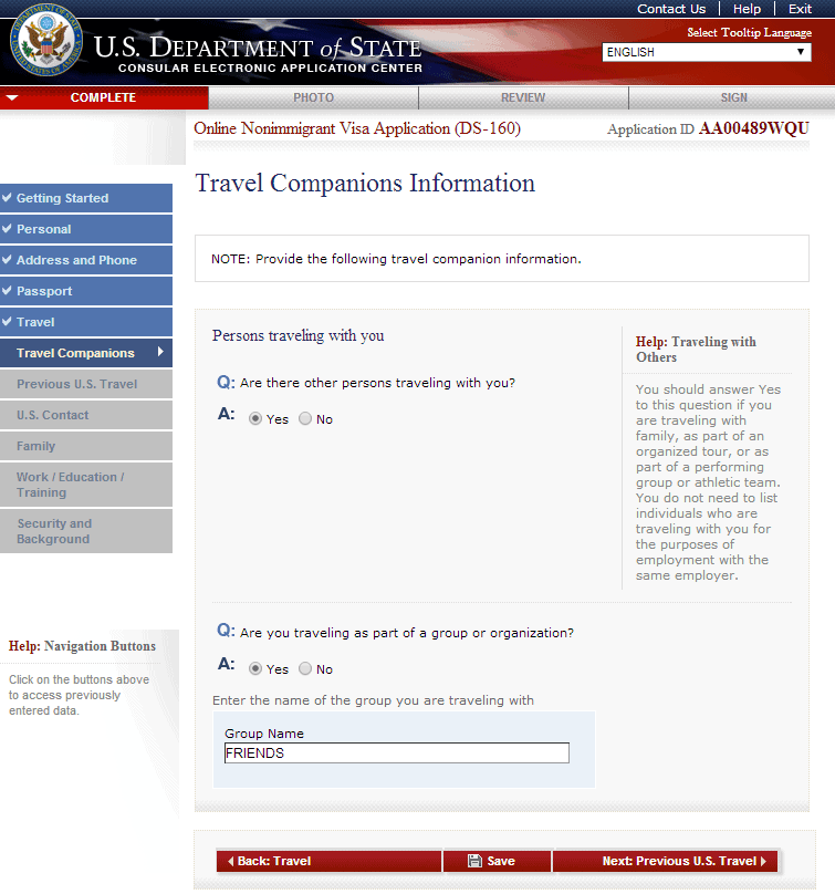 Hướng dẫn điền tờ khai xin visa Mỹ DS 160 bước 7