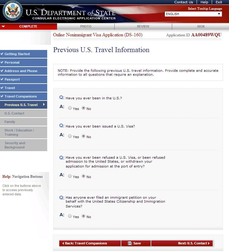 Hướng dẫn điền tờ khai xin visa Mỹ DS 160 bước 8