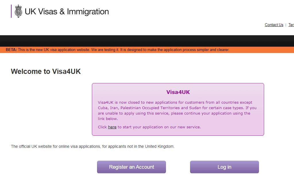 tờ khai xin visa Anh
