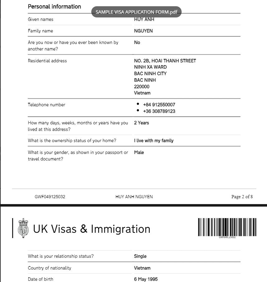 visa đi Anh du lịch