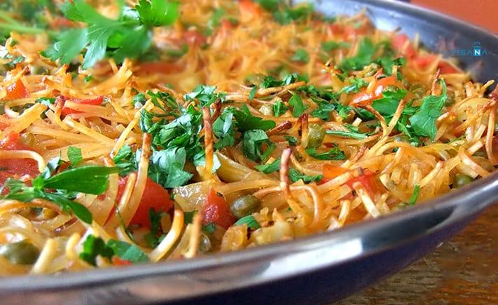 Fideua ẩm thực tây ban nha
