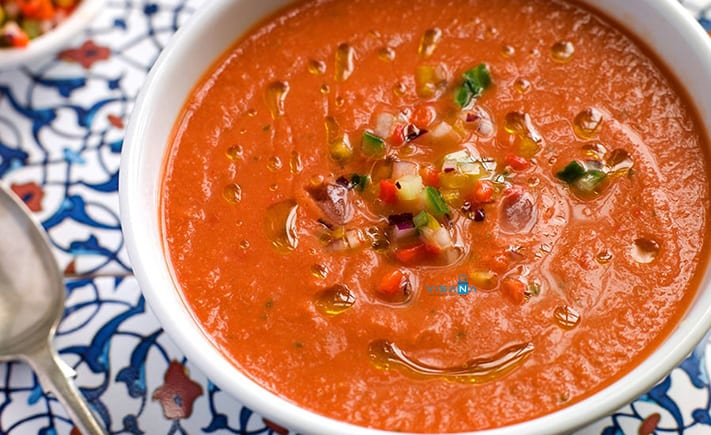 Gazpacho ẩm thực tây ban nha