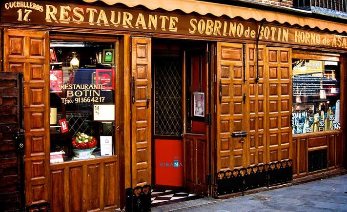 nhà hàng tây ban nha Sobrino de Botin