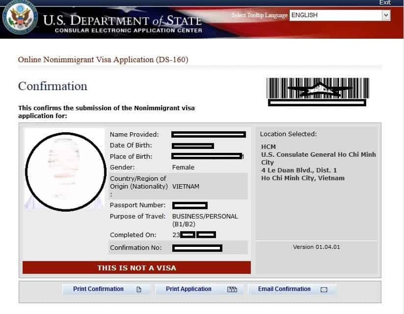 Đăng nhập vào hệ thống nộp đơn trực tuyến gia hạn visa Mỹ