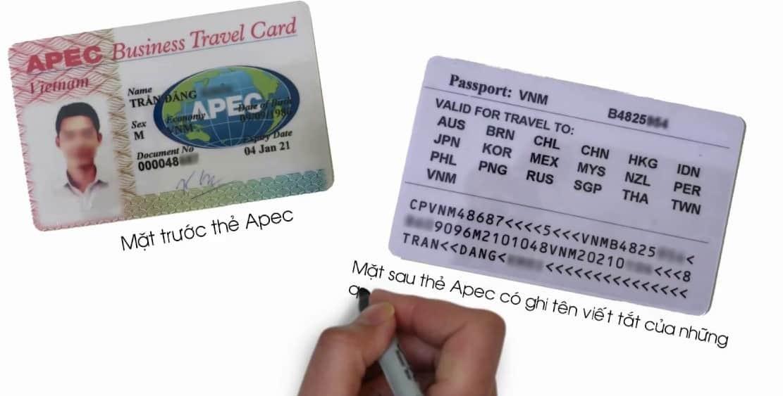 Mẫu thẻ APEC