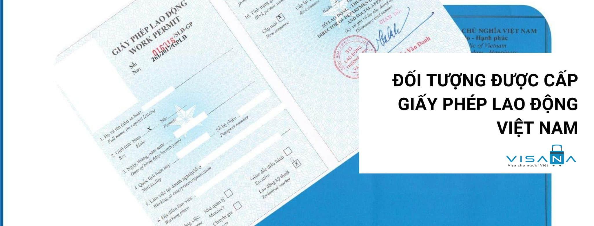 Đối tượng người nước ngoài được cấp giấy phép lao động Việt Nam