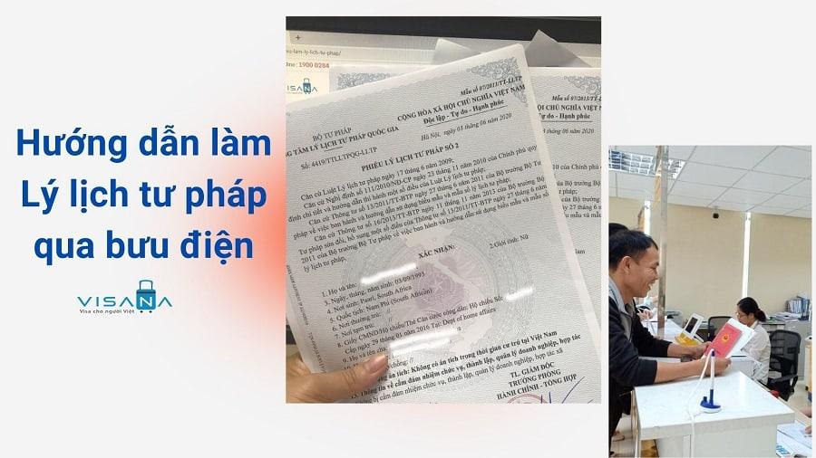 Hướng dẫn làm Lý lịch tư - VISANA pháp qua bưu điện