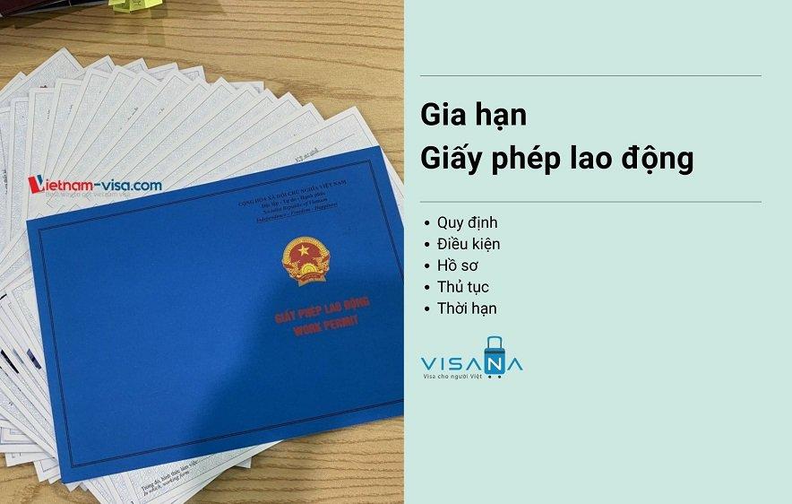 Gia hạn giấy phép lao động cho người nước ngoài tại Việt nam - VISANA