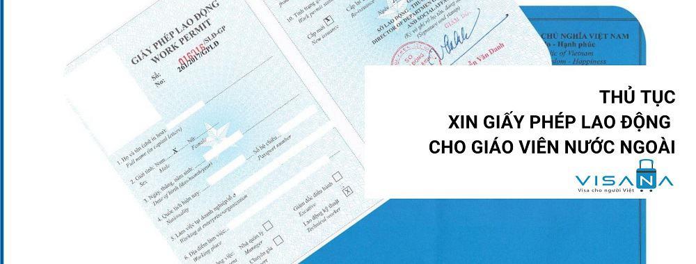 Thủ tục xin giấy phép lao động cho giáo viên nước ngoài