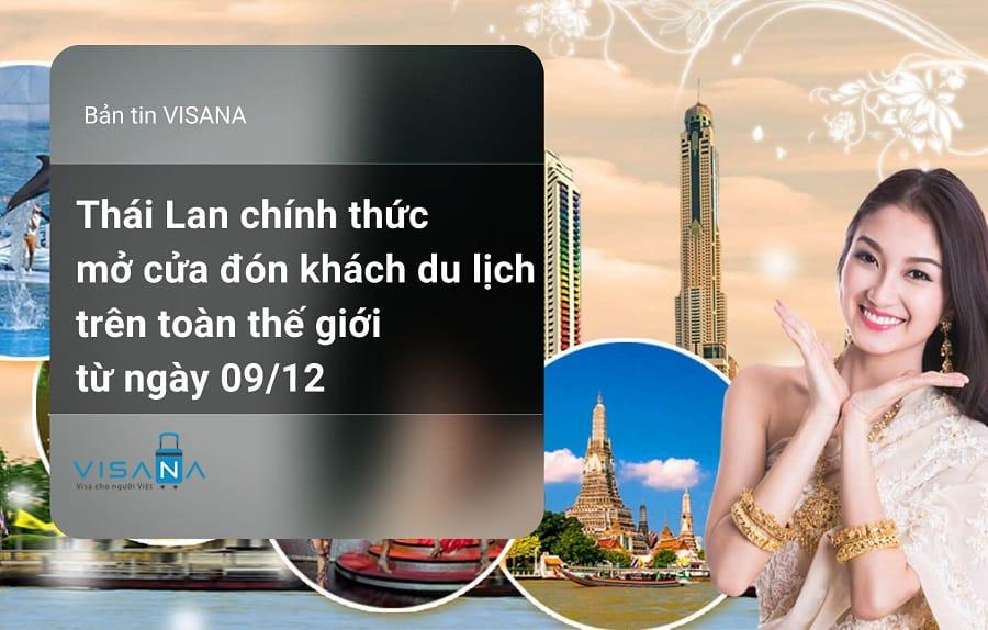 Thái Lan mở cửa đón du khách quốc tế từ 09/12