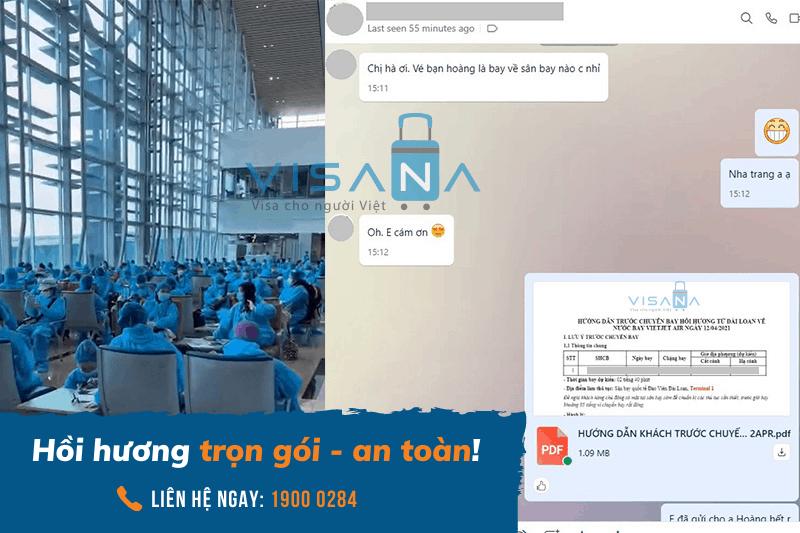 Testimonial khách hàng hồi hương từ Đài Loan