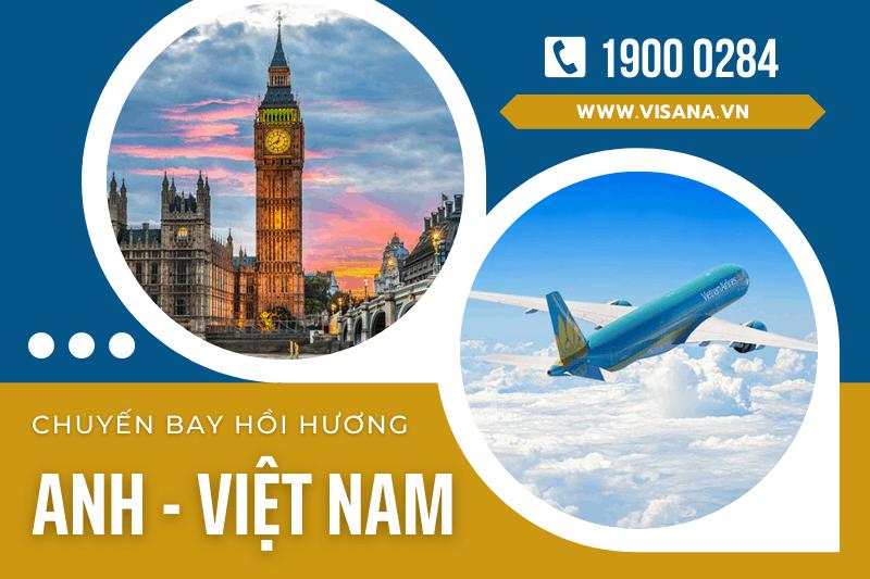 Lịch chuyến bay hồi hương Anh về Việt Nam