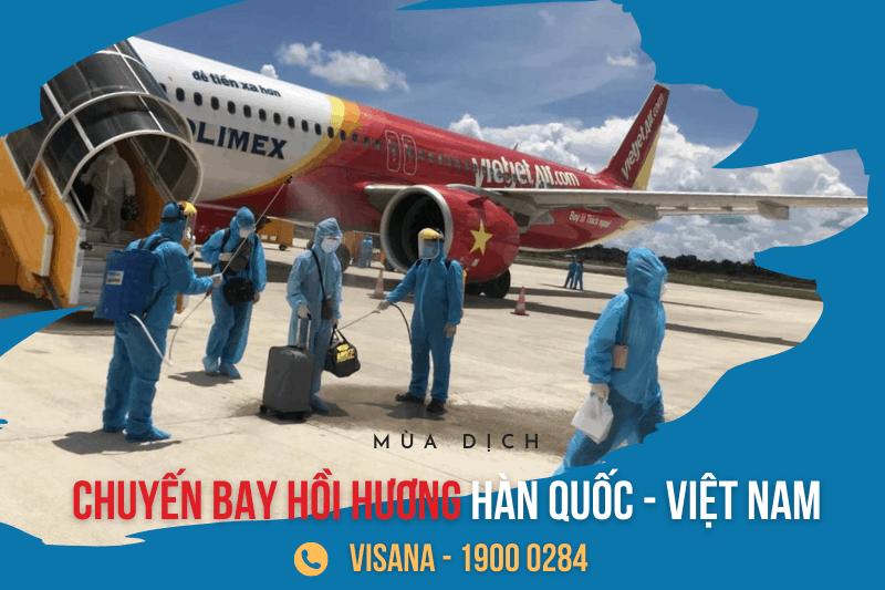 Lich bay, vé máy bay từ Hàn Quốc về Việt Nam