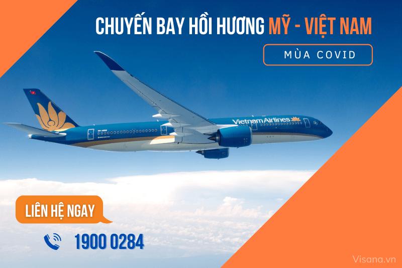vé máy bay từ Mỹ về Việt Nam