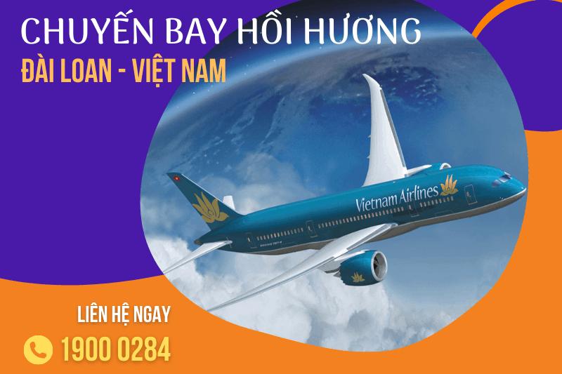 Lịch chuyến bay hồi hương, vé máy bay từ Đài Loan về Việt Nam