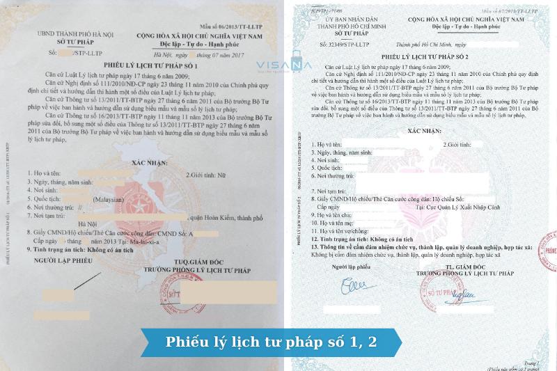 Lý lịch tư pháp số 1, 2 cho người Việt Nam ở nước ngoài