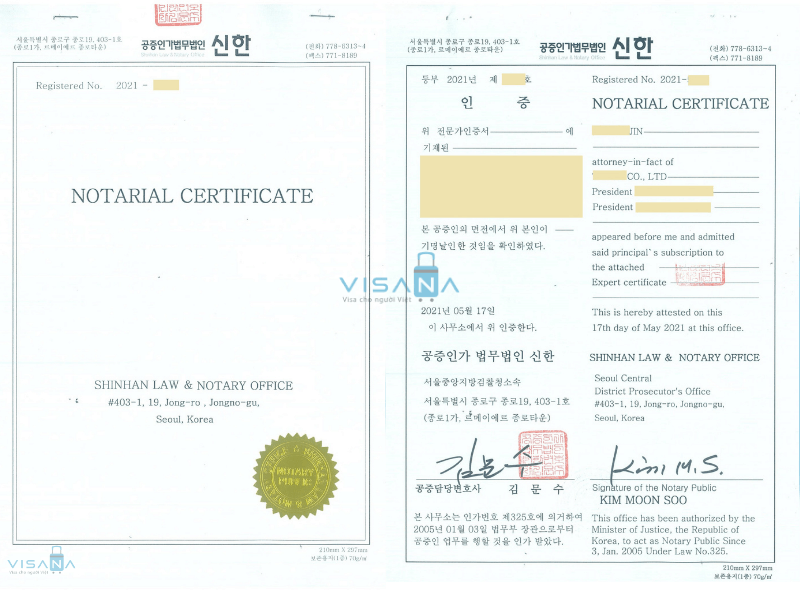Dịch thuật công chứng hồ sơ Hàn Quốc để hợp pháp hóa lãnh sự