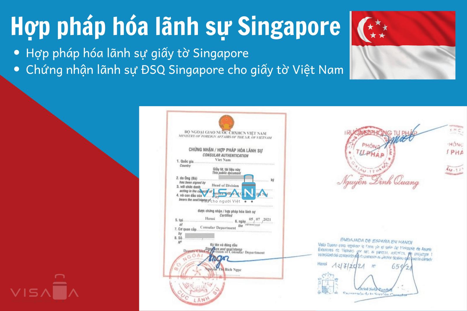 Hợp pháp hóa lãnh sự Singapore