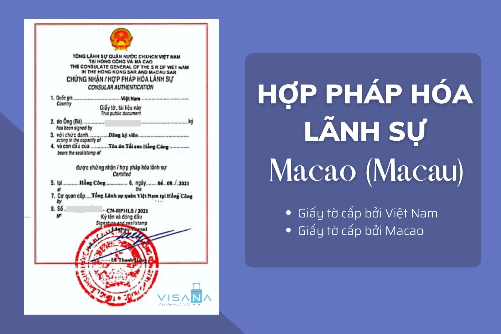 Hợp pháp hóa lãnh sự Macao